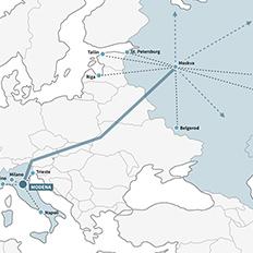 tratta italia russia intermodale