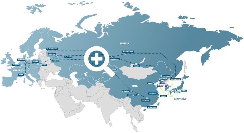 tratte spedizioni merci ferroviarie europa lituania russia cina giappone