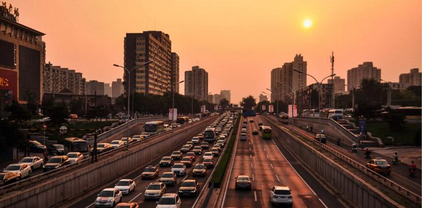 traffico auto cina