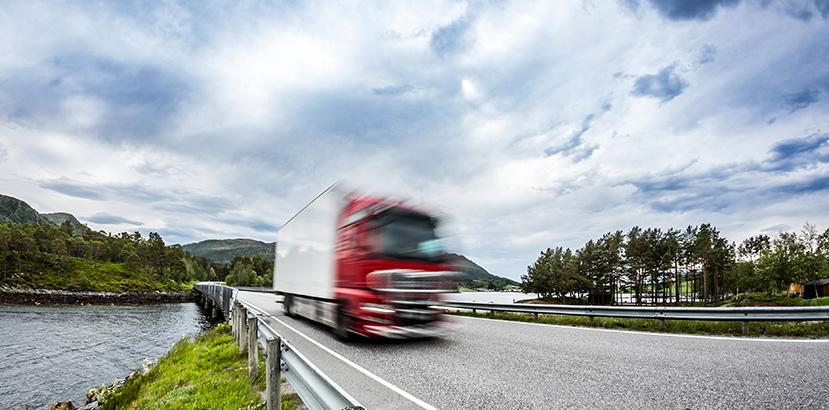 camion truck su strada